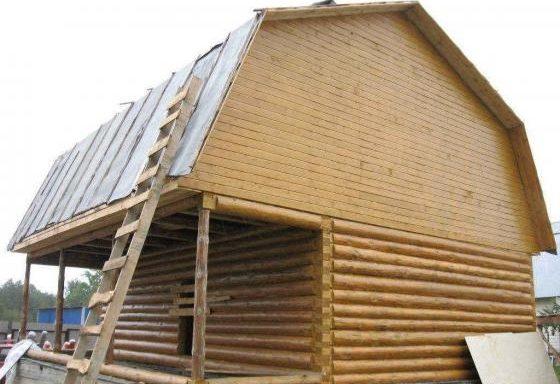 Дом 6 на 8 с верандой 2 метра под общей ломаной крышей