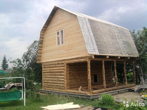 Баня 3 на 6 с верандой 2 метра под общей ломаной крышей