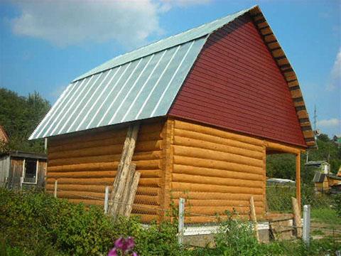 Дом 3 на 5 с верандой 2 метра под общей ломаной крышей
