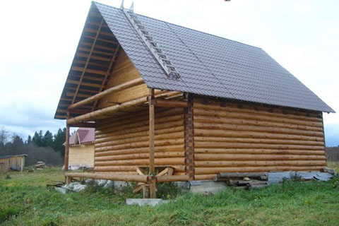 Дом 5 на 4 с верандой 2 метра