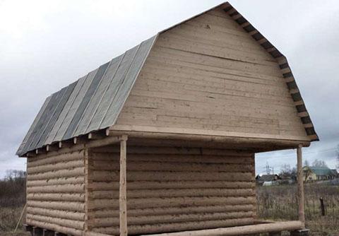 Дом 5 на 4 с верандой 2 метра под общей ломаной крышей