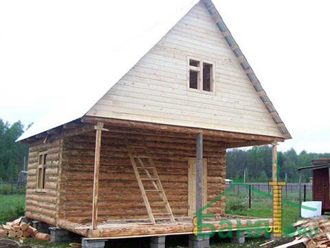 Дом 6 на 4 с верандой 2 метра