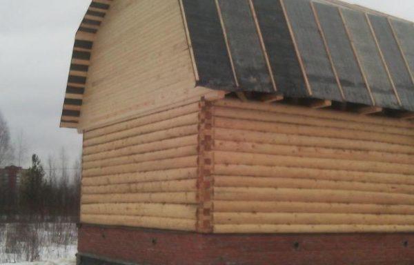 Дом 6 на 6 под ломаной крышей